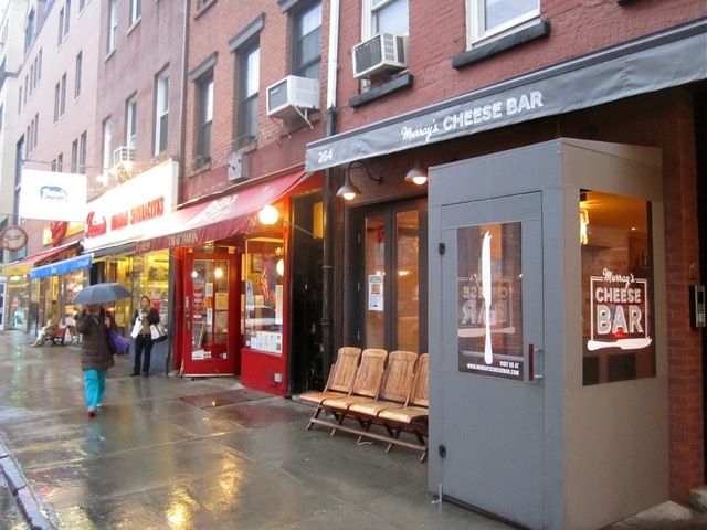 <p>Murray&#39;s Cheese Bar is located at 264 Bleecker St., three doors west of Murray&#39;s Cheese.</p>