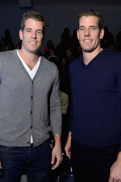 <p>Cameron and Tyler Winklevoss at the Nautica men&#39;s show at Lincoln Center, Friday, Feb. 8, 2013.</p>