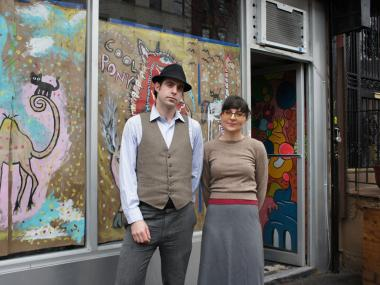 Ariane Ben Eli and Craig Judelman, co-owners of Franklin Avenue's Cool Pony in front of their Crown Heights store.