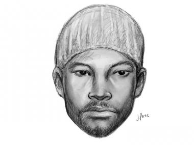 Police sketch of a man who allegedly entered an unlocked apartment and stole property.