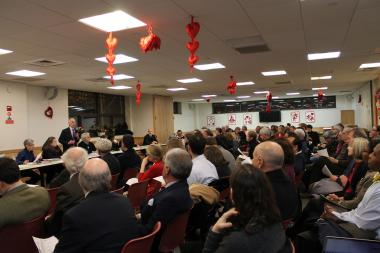 A packed hearing on the Upper West Side regarding the new