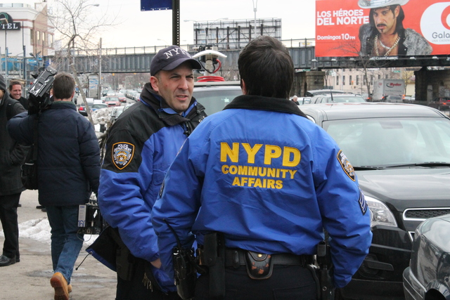 <p>Members of the NYPD&#39;s Community Affairs LGBT Liaison Unit were on hand Feb. 12, 2013 at the Crown Motor Inn.&nbsp;When multiple LGBT attacks occur in any one area, members of the NYPD&#39;s Community Affairs LGBT Liaison Unit generally target those areas for outreach.</p>
