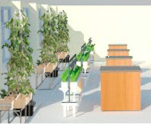 <p>A blueprint for the new hydroponic&nbsp;classroom at The Computer School on West 77th Street.&nbsp;</p>