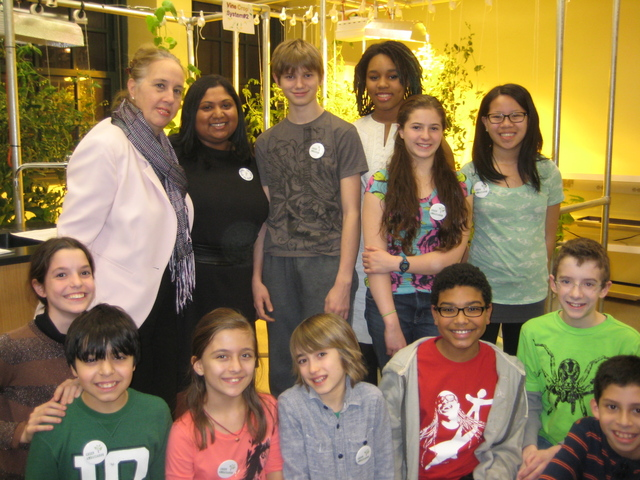<p>Students from the Computer School with City Councilwoman Gale Brewer.&nbsp;</p>