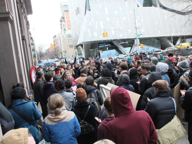 <p>Students at a rally protesting Cooper Union&#39;s decision to delay early admissions applications by more than a month.</p>