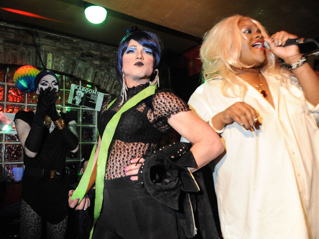 <p>Gemini is crowned drag queen of the night.</p>