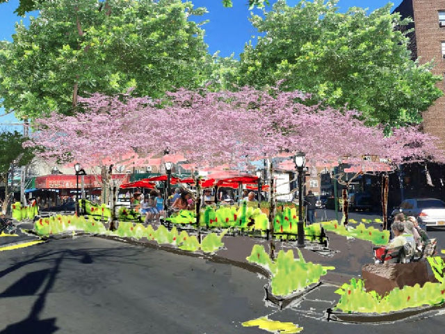 <p>A new plan to revitalize Dunningham Triangle will add new foliage, removable tables and chairs, umbrellas, gardens and a performance area.</p>
