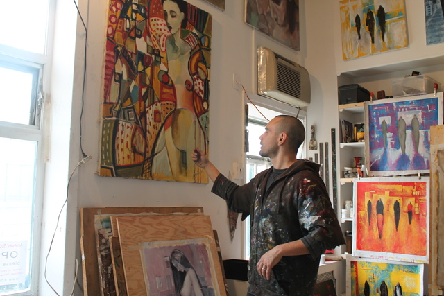 <p>Anievas in his studio.</p>