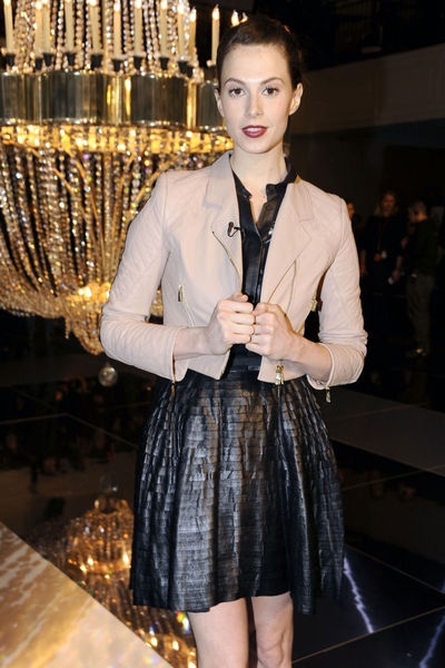 <p>Elettra Wiedemann at the Jason Wu show on Park Avenue, Friday, Feb. 8, 2013.</p>