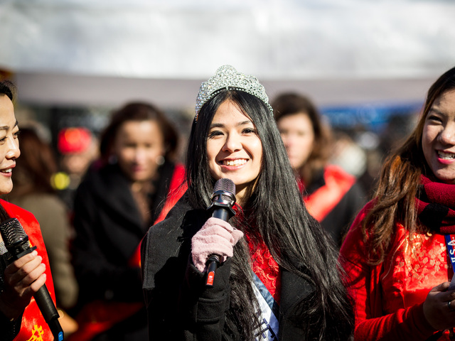 <p>Elizabeth Tam, Miss New York of 2012, attends the Chinese New Year celebrations in Sara D. Roosevelt Park for the 14th Annual Firecracker Ceremony and Cultural Festival on Feb. 10, 2013.<br /> 	&nbsp;</p>
