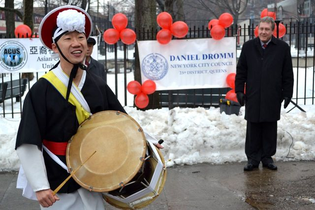 <p>A drummer at the Elmhurst Lunar New Year Festival. This year&#39;s festival features a parade.</p>