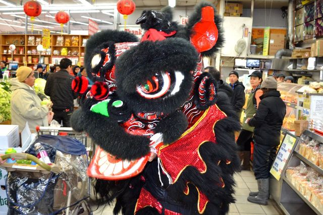 <p>Dragon dancers like the one pictured here from the Elmhurst Lunar New Year Festival will also appear at the inaugural Elmhurst Lunar New Year Parade.</p>