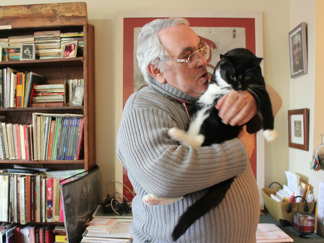 <p>Mario Romero calls his cat, Alejandro, his &quot;baby.&quot;</p>
