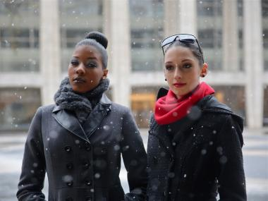 Fashion week die-hards said the show must go on despite an incoming blizzard.