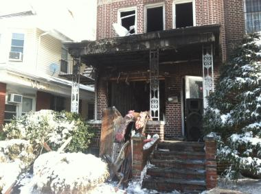 An 8-year-old boy died in a fire at 2773 Bedford Ave. in Brooklyn on Feb. 9, 2013.