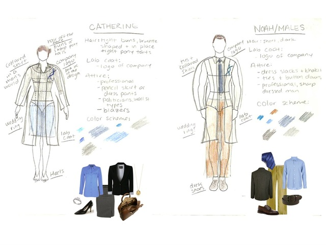 <p>Cyrus Toulabi and crew have planned out the costumes for their characters.</p>