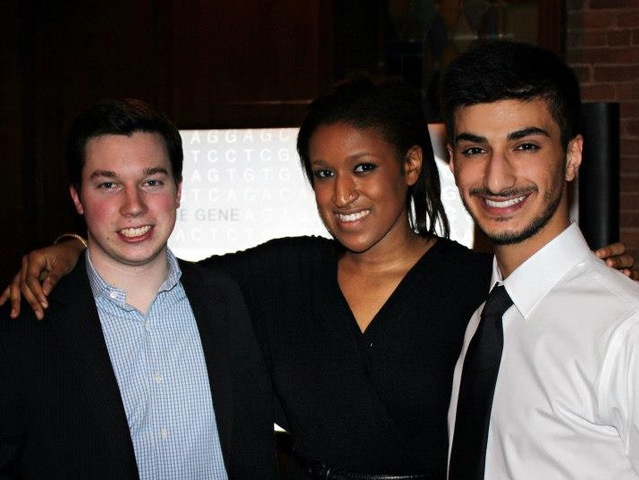 <p>&#39;The Gene&#39; filmmakers John McGinnis, Sydney Stanback and Cyrus Toulabi hosted a fundraising event for the film in Chicago in Dec. 2012.</p>