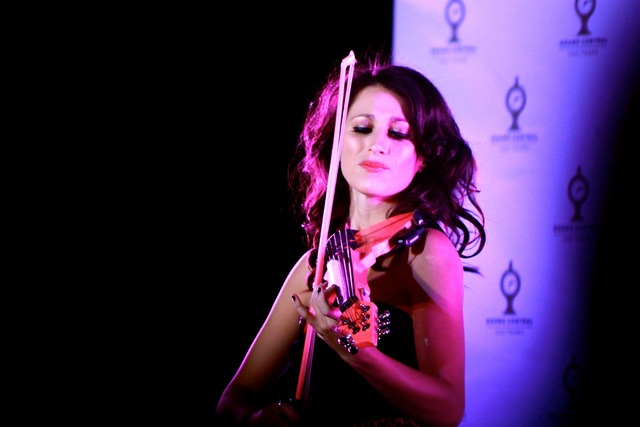 <p>International performer and electric violinist Sarah Charness<em> </em>performed in the opening ceremony of the Grand Central Centennial.</p>