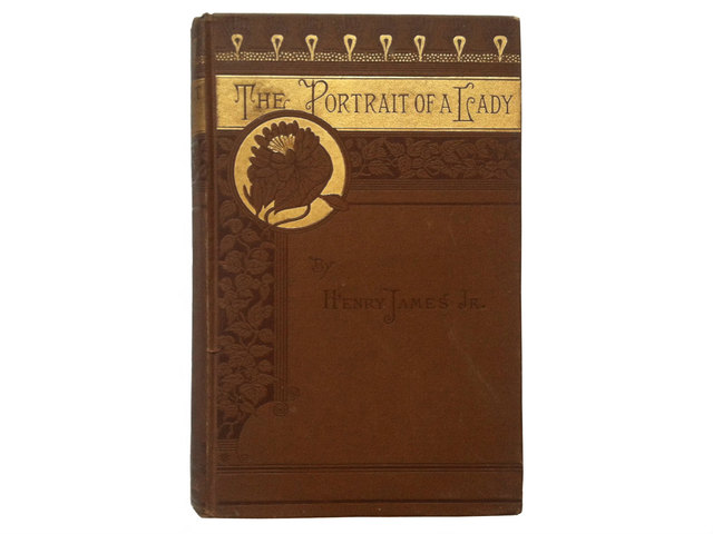 <p>The antique books at the fair will include a copy of the first American edition of the 1881 Henry James novel &quot;The Portrait of a Lady.&quot; Available for $750, the book bound in dark brown cloth has gold details, floral endpapers and the original owner&#39;s notes in pencil, dated Dec. 1882.&nbsp;</p>