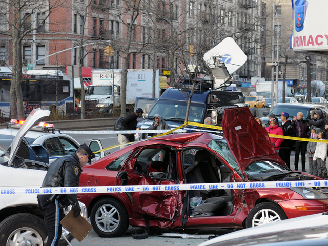 <p>Firefighters used the &quot;jaws of life&quot; to remove the passengers in the Ford Focus, Feb. 6, 2013.</p>