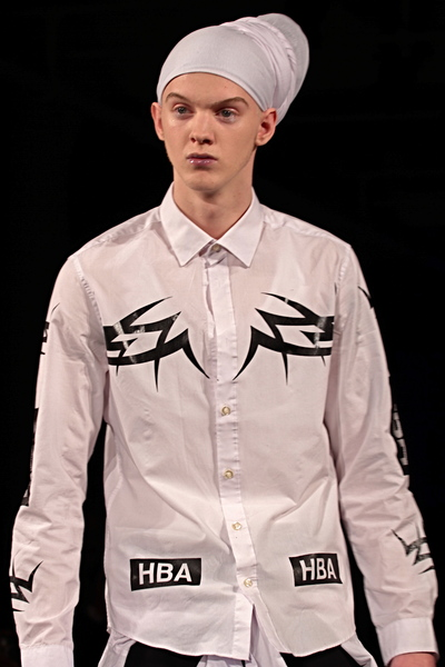 <p>White Cotton shirting with brand tags and retro flash art details</p>