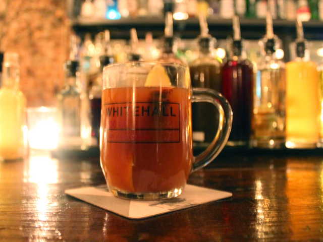<p>Greenwich Village resturant Whitehall offers a hot Pimm&#39;s Cup during the winter months.</p>