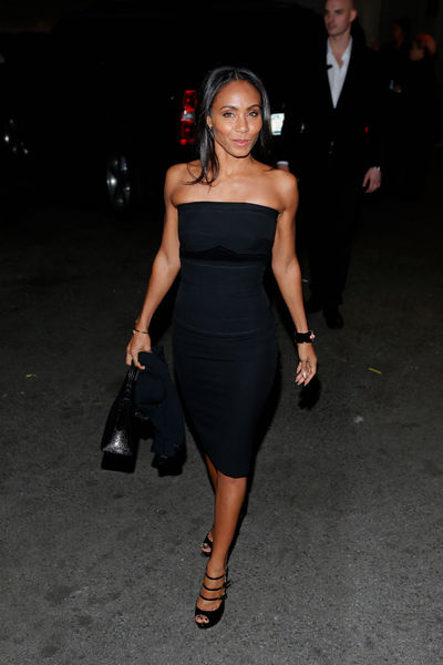 <p>Jada Pinkett Smith outside the Marchesa show at the New York Public Library, Wednesday, February 13, 2013.</p>