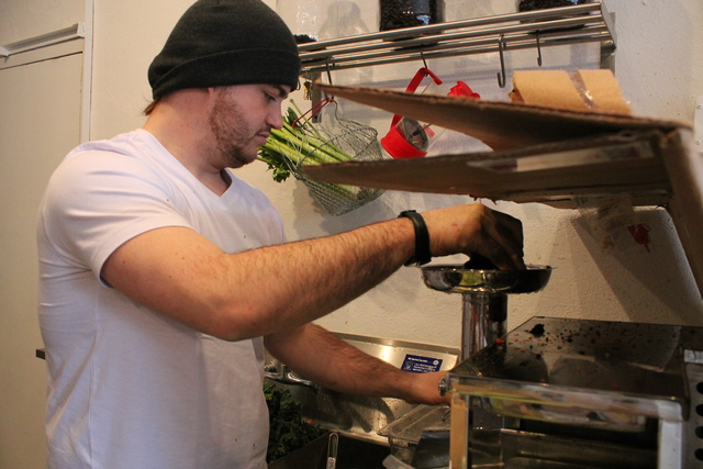 <p>Though Goodies is not yet open, members of Good Yoga can make specialty juice orders, according to manager Max Kelly (pictured.)</p>