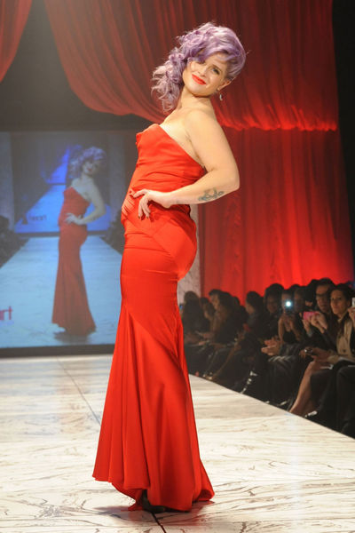 <p>Kelly Osbourne taking the catwalk at the Heart Truth Red Dress Collection at the Hammerstein Ballroom in Midtown.</p>