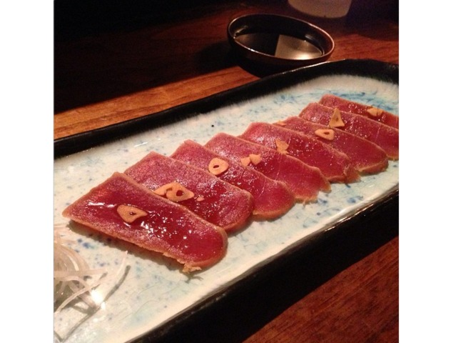 <p>@justRy: Maguro Zuke: Soy Marinated Tuna wit Garlic Chip &amp; Onion Soy Dressing! #foodporn #BlueRibbonSushi #soho #nyce</p>