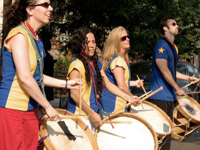 <p>The drumming group Maracatu, which rents space in the Gowanus Arts Building next door to the Fairfield Inn on Third Avenue.</p>