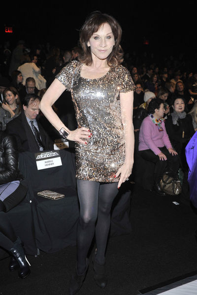 <p>Marilou Henner at the Project Runway show at Lincoln Center, Friday, Feb. 8, 2013.</p>