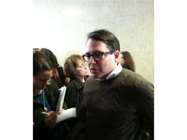 <p>Matthew Broderick attended a court appearance Feb. 26, 2013, related to the NYU 2031 expansion plan.</p>