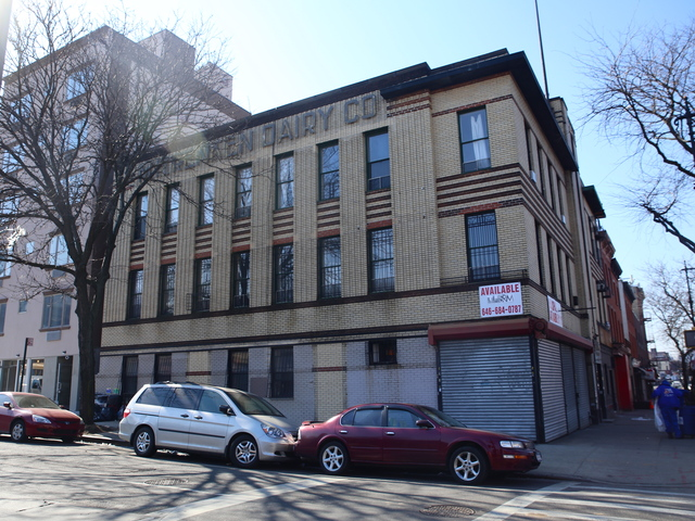 <p>The Renken Dairy Company building &quot;is an unusual example of the Moderne style of architecture applied to a small commercial structure in Brooklyn,&quot; according to the Landmarks Commission.</p>