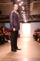 <p>Joshua Kaston, Vice President of Financial Alliance Processing Services, walked Designer Michael Fenici&#39;s runway show.</p>