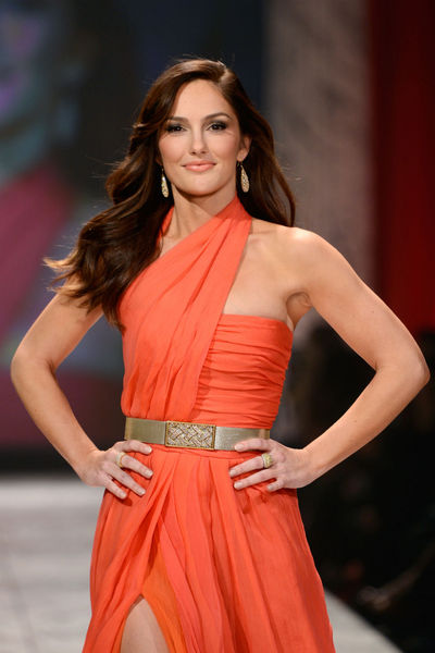 <p>Minka Kelly, in Oscar de la Renta, at the Heart Truth Red Dress Collection at the Hammerstein Ballroom in Midtown.</p>