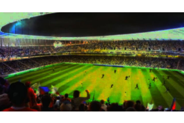 <p>Renderings of the interior to a proposed MLS stadium in Flushing Meadows-Corona Park.</p>