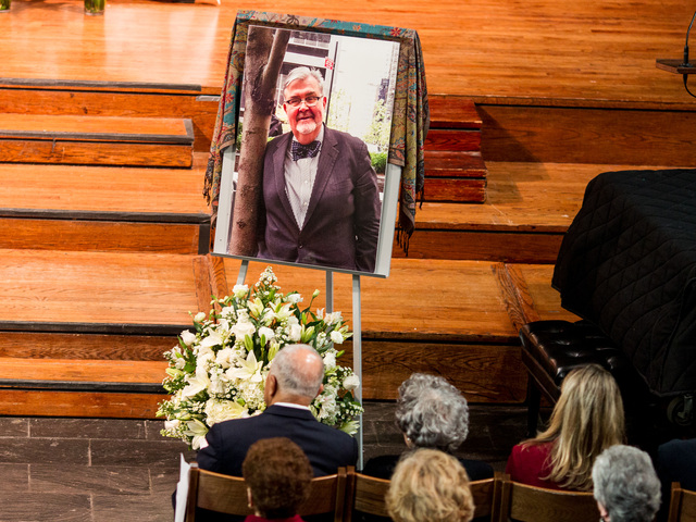 <p>A portrait of Richard Murphy, 68, in the Union Theological Seminary Chapel, at his funeral service on Feb. 16, 2013. Murphy passed away on Feb. 14, 2013, in Manhattan.</p>