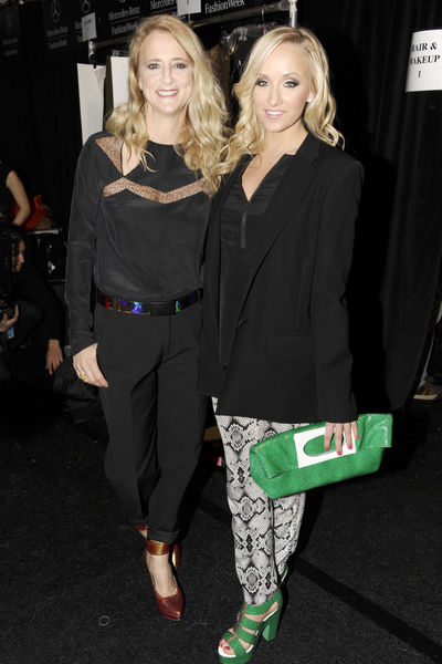 <p>Nanette Lepore and Nastia Liukin at the Nanette Lepore show at Lincoln Center, Wednesday, February 13, 2013.</p>