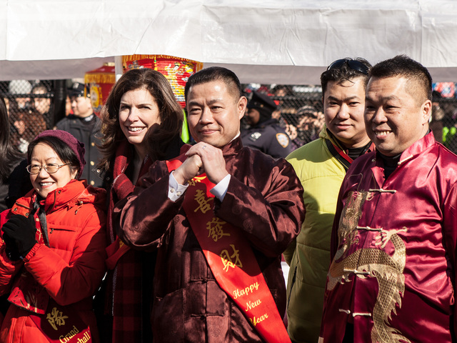<p>New York City Comptroller John C. Liu attends the Chinese New Year celebrations in the Sara D. Roosevelt Park on Feb. 10, 2013.</p>