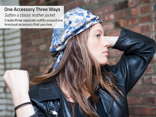 <p>To warm up to a new or interesting accessory, experiment at home by piecing together entire outfits around that hat, belt or necklace.</p>