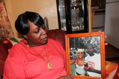 Sandra Boyce said looking at the picture of her son makes her happy and sad at the same time.