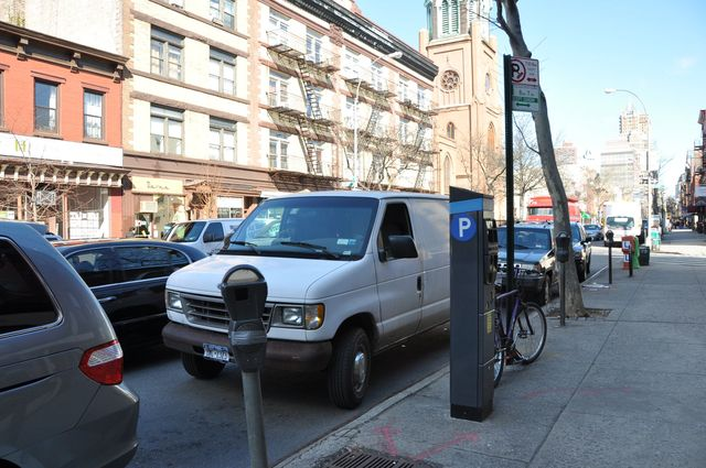 <p>A parking meter on Court St., in Cobble Hill.</p>