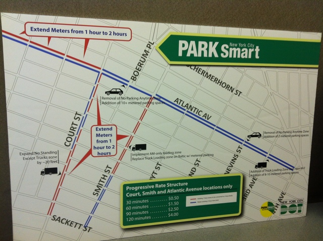 <p>A map of streets where PARK Smart is to be implemented.</p>