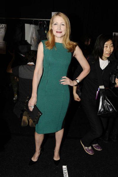 <p>Patricia Clarkson at the Monique Lhuillier show at Lincoln Center, Wednesday, February 13, 2013.</p>
