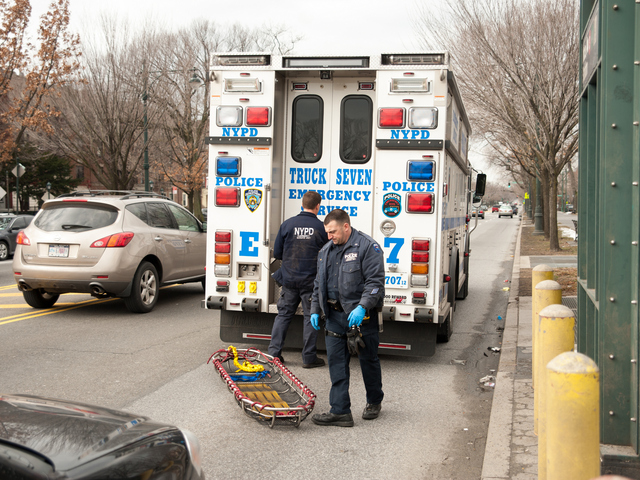 <p>Police officers at the scene on Tuesday February 12th, 2013.</p>