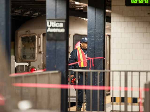 <p>A woman was struck and killed by a 3 train at Utica Avenue and Eastern Parkway on Tuesday February 12th, 2013.</p>