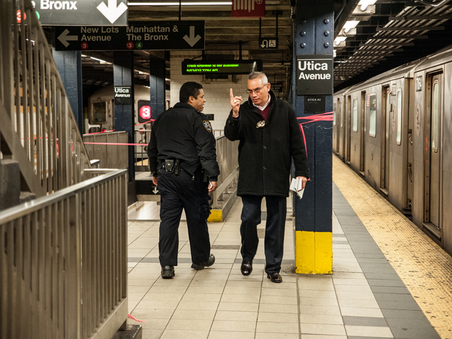 <p>The 3 train can be seen at left on Tuesday February 12th, 2013.</p>