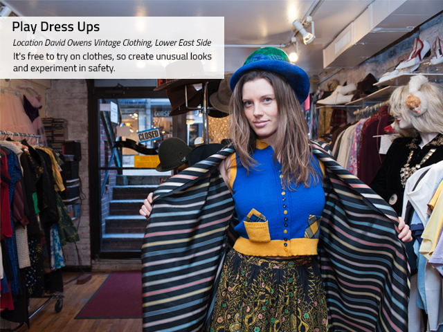 <p>To jump-start creativity, visit flea markets and vintage stores to help with fashion inspiration, according to stylist Alexandra Suzanne Greenwalt.</p>