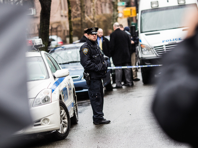 <p>Police continue to investigate a Clinton Street, Brooklyn, home after Elizabeth Borst, 55, was found with a head wound that later proved fatal, on Feb. 23, 2013.</p>